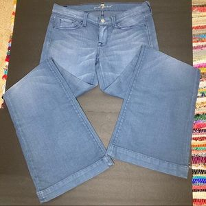 7 For All Mankind Ginger Low Rise Flare Size 30
